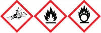 Предупреждающие знаки (СГС) Тип GHS 02 Описание Опасно Символ Открытое пламя Размеры 26 x 37 мм