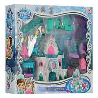 Замок 1206A (12шт) принцессы, муз, свет, мебель, фигурки, на бат-ке(табл), в кор-ке, 52-43-9,5см