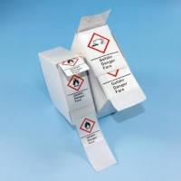 Предупредительные знаки LLG-GHS, самоклеящиеся, рулон или коробка Тип GHS 06 Описание опасность Символ ядовитые вещества Размеры 37 x 52 мм