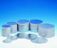 Диски алюминиевые, круглые, 80 мм, 0,03 мм, с прослойкой из волокнистой бумаги,  уп. 1000 шт.