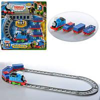 ЖД 2312 (24шт) TH, локомотив-музвук,свет,на бат-ке, вагоны 3шт, на листе, 39,5-41,5-5см