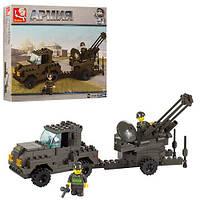 Конструктор SLUBAN M38-B7300 (32шт) армия,военная машина, фигурки, 221дет, в кор-ке, 28,5-24-5,5см