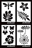 Трафарет для декора artFlora 25, Бабочки и мак, 64*44см, фото 3