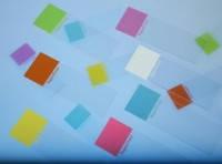 Предметное стекло с полем для маркировки тест Окантовка срез прямой Цвет белый