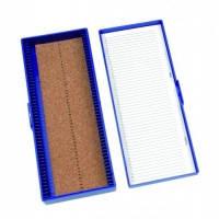 Бокс для предметных стекол Для предметныхстекол, 100 шт. Цвет Синий Размеры(Ш´Д´В) 208 x 175 x 34 мм