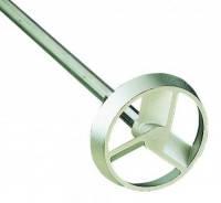 Мешалка турбинная 3-лопастная с направляющим кольцом, нержавеющая сталь 1.4305 Тип R 1312 Диаметр мешалки 50 мм Диам.вала 8 мм Длинастержня 350 мм Чис