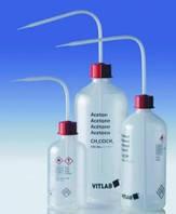 Безопасные промывалки с узкой горловиной VITsafe с маркировкой, PP/PE-LD Этикетка Метанол Объем 250 мл Резьба 25 GL Материал PE-LD