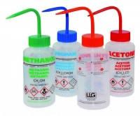 Безопасные бутылки для промывки, с клапаном сброса давления, ПЭНП Этикетка Метанол