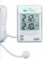 Термометр внут/наруж электронный (Макс/Мин) -50...+70 °С, выносной проводной датчик 3 м