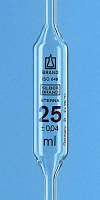 Пипетка мерная Мора, Класс Б, содовое стекло AR-Glas, янтарная градуировка Объем 0.5 мл Общаядлина 300 ± 10 мм Точность 0.007 мл