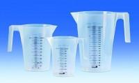 Градуйовані стакани, поліпропілен, синя градуювання