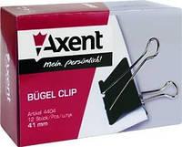 Зажим для бумаги 41 мм, черный Axent