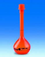 Колбы мерные с винтовой крышкой, материал ПМП, класс А Объем 100 мл Точность 0,10 мл Высота 180 мм Резьба GL 18