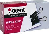 Зажим для бумаги 25 мм, черный Axent
