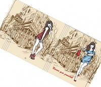Папка на резинках для тетрадей 200*230 PP покрытие картон,Современная девушка КАФЕ