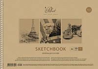 Альбом для рисования 12 л., обложка - цветная,  картон хром-эрзац , блок - офсет  100г/м², 4 вида,ми