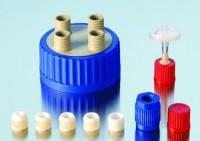 Соединительная система  для бутылок с широкой горловиной GLS 80® Описание Вставка для резьбовой крышки внутр. диам. 6,0 мм Резьба 18 GL