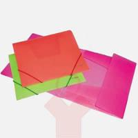 Папка на резинке А4 пластиковая цветная  ассорти Economix