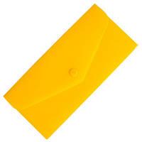 Папка-евроконверт Е65 прозрачный на кнопке, желтый Economix