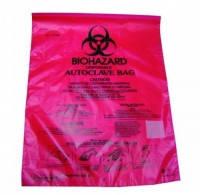 Пакеты для утилизации Biohazard , PE-HD, 220х280 мм, оранжевые, маркированные, индикатор стерильности, уп. 100 шт.