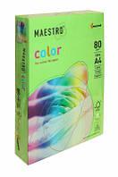 Бумага А4 Maestro Color MA42 зеленый