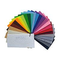 Образцы жесткого фетра 1 мм, Китай, 10х5 см, 23 цвета