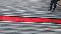 Устройство плоской крыши из профнастила.