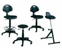 Вращающийся стул без подлокотников сиденья и спинки