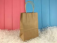 Крафт пакеты среднего размера (упаковка 12 шт)