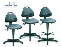 Лабораторный стул Isitec Тип Isitec 1 с опорами Высота от 430 до 600 мм
