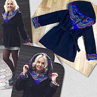 Пальто на синтепоне кашемир-платок