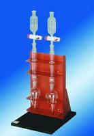 Установка для очистки проб на колонках CUS 2 Тип CUS 2 Описание Устройство для очистки проб, состоящее из стойки, двух градуированных колб на 100 мл,