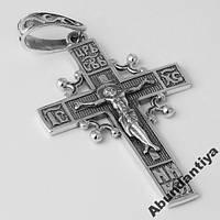 БОЛЬШОЙ Серебряный КРЕСТ, 925 пробы (5157)