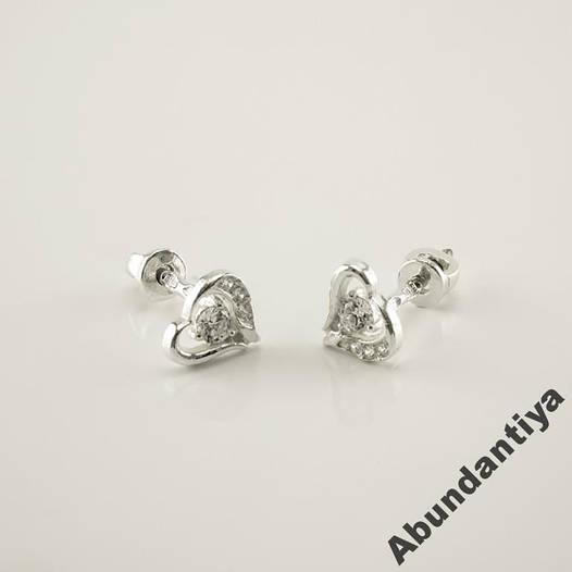 579ed6a40917 Серьги-гвоздики (пусеты) Сердце (4684)  продажа, цена в Харькове ...