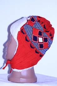 Детская шапка теплая Красный