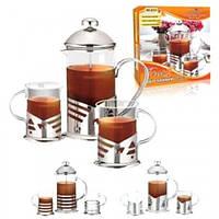 Заварник для чая с прессом Stenson 600 мл + 2 стаканы 200 мл 0151