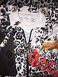 """Женский спортивный велюровый костюм """"Eze,"""" леопард принт розы, разм с 42 по 54, фото 9"""