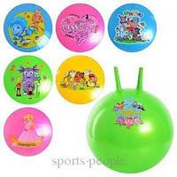 Мяч для фитнеса/фитбол детский 45 см, разн. рисунки