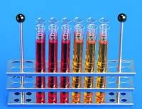 Штативы для водяной бани 1002 и 1013 Тип 1920 Описание С 20 гнездами, диам 18 мм для пробирок диам 16/17 мм