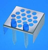 Штативы для шейкера бани 1070 Тип 1711 Описание 19 отверстий, диам. 17 мм Для Пробирки 15 мл