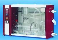 Моно-/бидистилляторы из стекла Тип 2202 (Mono) Производи-тельность 2 л/час Расход воды 48 л/час Мощность 1500 Bт Питание 230V 50/60 Hz Масса 16,00 кг