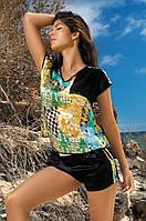 Barcelona от Mia-Mia: шорты+топ 15046. Итальянский шик и роскошь!