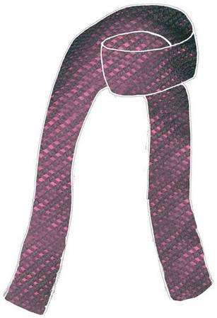Безупречный женский шарф ARMANI ladies knit scarf (BLACK/FUXIA) 8034153013213 фуксия/черный