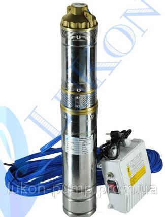 Насос скважинный , погружной насос , глубинный , в колодец 4QGDa 0.5кВт с пультом управления, фото 2