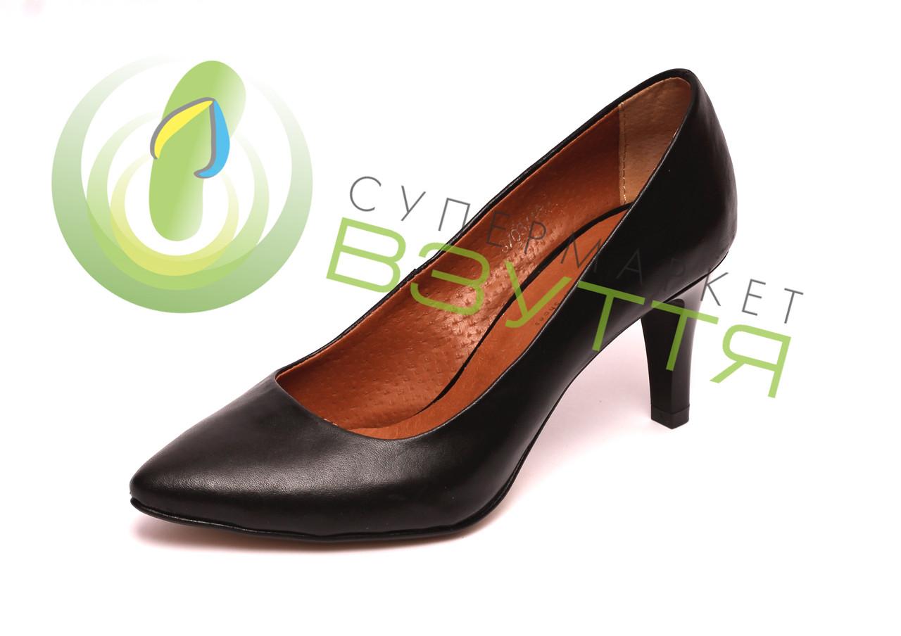 Женские туфли Марини черные 36  размер