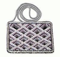 Театральная сумочка ручной работы из бисера винтаж