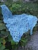 Голубая шаль вязанная крючком Шали ручной работы