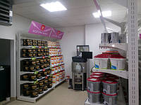 Магазин Тиккурила, город Черновцы ул. Хотинская 4. Уютный, большой магазин с лакокрасочной продукцией. Где работают специалисты которые быстро и надежно обслужат клиента.