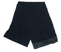 Шикарный мужской шерстяной шарф 170х25 см. ARMANI MEN'S WOVEN SCARF (NERO) 8033995381511 черный