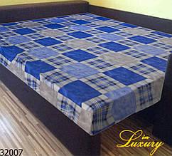"Простынь на резинке 90х200 см ""Шотландка синяя"" in Luxury™ 32007"